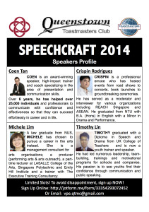 Speakers Profile